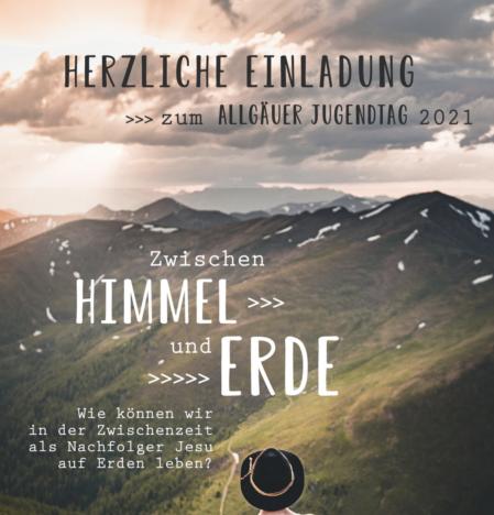 """Einladung zum """"Allgäuer Jugendtag 2021"""" in Ulm"""